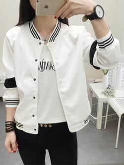 เสื้อคลุมแฟชั่น ใส่่ได้ทุกฤดูสวยเท่ห์สไตล์เกาหลี รหัส 1560-สีขาว