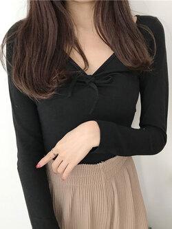 เสื้อแฟชั่นผู้หญิง-1764-สีดำ