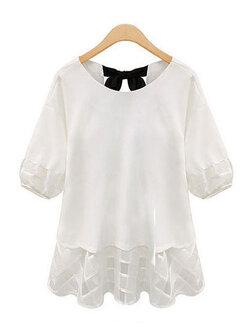 เสื้อแฟชั่นผู้หญิง-1787-สีขาว