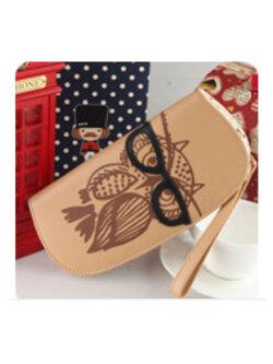 กระเป๋าเงินผู้ญิง-B028-สีน้ำตาลอ่อน