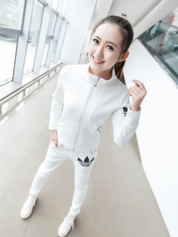 ชุดออกกำลังกายสีขาว-1727-XL