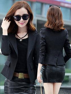 เสื้อสูทผู้หญิงสีดำใส่ทำงานแบบเรียบหรู มี 4 ไซส M/L/XL/2XL รหัส 1807