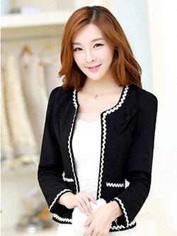 เสื้อสูทผู้หญิงสีดำใส่ทำงาน สไตล์เรียบหรู 5 size S/M/L/XL/2XL รหัส 1390