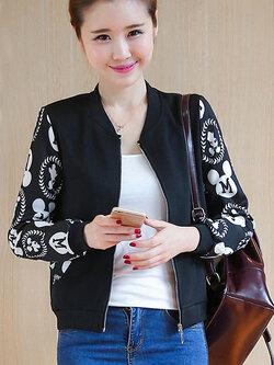 เสื้อคลุมแต่งแขนลายมิ้กกี้เม้าสุดน่ารักมี 4 ไซส M/L/XL/2XL รหัส 1720-สีดำ