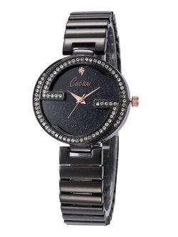 นาฬิกาแฟชั่นผู้หญิง-W002-สีดำ