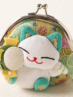 กระเป๋าแมวเนโกะสีเขียว