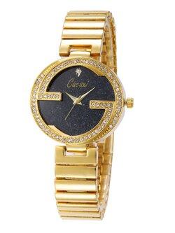 นาฬิกาแฟชั่นผู้หญิง-W002-สีทอง