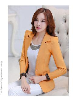 เสื้อสูทผู้หญิงสีส้ม-1766-S