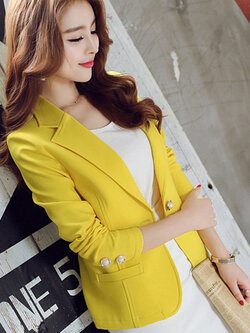 เสื้อสูทผู้หญิงสีเหลือง-1647-2XL
