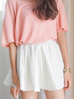 กระโปรงกางเกงผ้าชีฟอง-สีขาว