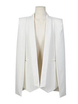 เสื้อสูทแฟชั่นผู้หญิงสีขาว-1690-XL