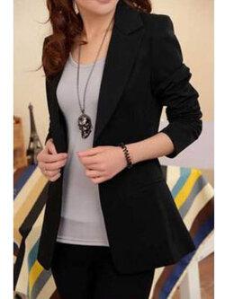 เสื้อสูทผู้หญิงแฟชั่นสีดำทรงยาวใส่ทำงานหรือออกงานได้สวยหรู 5 ไซส์ S/ M /L /XL /2XL รหัส 1840-สีดำ