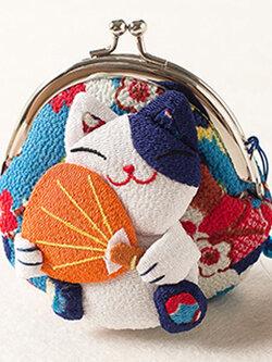 กระเป๋าแมวเนโกะสีฟ้า