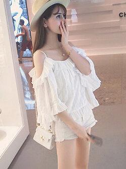 เสื้อผ้าแฟชั่นสีขาว-1581-M