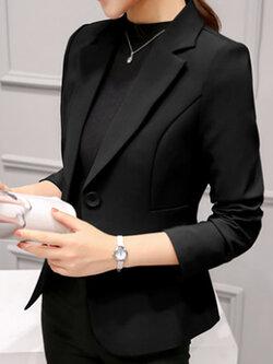 เสื้อสูทผู้หญิงแฟชั่นสีดำใส่ทำงาน สไตล์เรียบหรู 5 size S/M/L/XL/2XL รหัส 1718