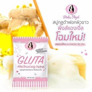 Pink Angel GLUTA Whitening Soap สบู่กลูต้าฟอกผิวขาว พิ้งส์แองเจิ้ล โฉมใหม่ สบู่กลูต้า เข้มข้นสุดในท้องตลาด