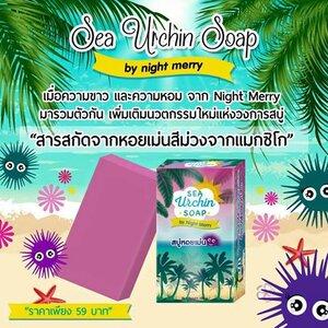 SEA Urchin SOAP by Night Merry สบู่หอยเม่น ผิวขาวกระจ่างใส แลดูอ่อนกว่าวัย ตั้งแต่ครั้งแรกที่ใช้!!!