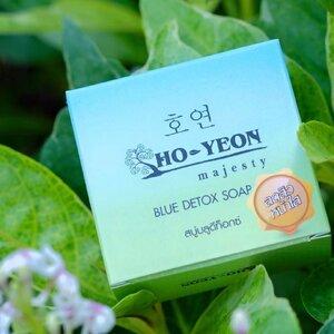 HO-YEON majesty BLUE DETOX SOAP โฮยอน สบู่บลูดีท็อกซ์ หน้าใส ลดสิว รูขุมขนกระชับ ลดฝ้า จุดด่างดำ