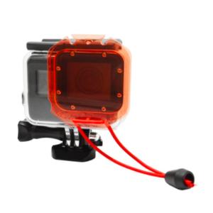 ฟิวเตอร์แดง Red Filter for Original GoPro Hero 6 5 Waterproof Case with Strap