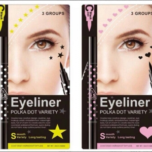 3GS Eyeliner Polka Dot Variety Cool Black 2 in 1