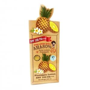 โลชั่นกันแดดสับปะรด Over White Pineapple Body Lotion AHA80 SPF100 PA+++