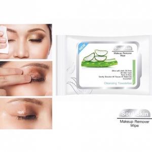 Soul Skin Makeup Remover Wipe โซล สกิน เมคอัพ รีมูฟเวอร์ ไวพ์ แผ่นเช็คทำความสะอาดเครื่องสำอาง แต่งจัดแค่ไหน ก็ลบได้หมดจด