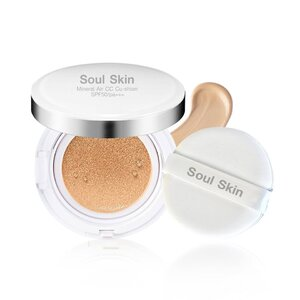 Soul Skin Mineral Air CC Cu-shion SPF50 pa+++ แป้งพัฟหน้าฉ่ำวาว ขาวเรียบเนียน มีออร่า แบบสาวเกาหลี