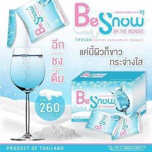 Be Snow BY THE RICHONE บีสโนว์ ผงชงผิวขาว ทานทุกวัน ผิวสวย หน้าฉ่ำเงา