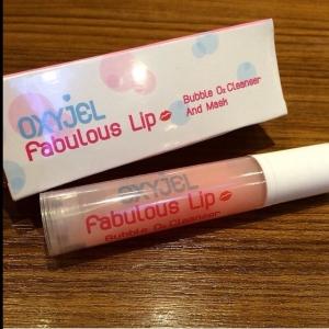 Oxyjel Fabulous Lip Bubble O2 Cleanser and Mask มาร์คริมฝีปากฟองฟู่