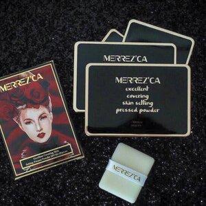 Merrez'ca Excellent Covering Skin Setting Pressed Powder เมอร์เรซกา แป้งกันน้ำ เนื้อเนียน ปกปิด ไม่ลอกเป็นคราบ