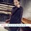 ชุดเดรสผ้าลูกไม้สีดำ แขนยาวใส่ออกงาน สวยหรูสไตล์เกาหลี thumbnail 1