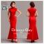รหัส ชุดกี่เพ้า : AN723 ชุดกี่เพ้าประยุกต์ยาวราคาถูก ผ้าสวยๆ ใส่งานแต่งงาน สีแดง สีสันสดใสสวยและน่ารักมากๆ thumbnail 4