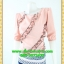2715เสื้อผ้าคนอ้วน ชุดทำงานคอกลมแขนยาวเอวต่ำกระโปรงลายขวางสไตล์หวานเรียบร้อย สุภาพ thumbnail 3