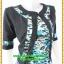3084เสื้อผ้าคนอ้วน เสื้อผ้าแฟชั่นชุดทำงานลายเสือคอกลมตัวในมีตัวนอกคลุมทับลายเขียวสไตล์หวานเรียบร้อยสุภาพเป็นทางการ thumbnail 2