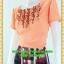 2449ชุดทำงานคนอ้วนสีโอรสคอกลมแต่งจีบด้านหน้าโดดเด่นด้วยกระโปรงแยก10ชิ้นทรงเอสไตล์หวานสุภาพเรียบร้อย thumbnail 3