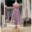 รหัส ชุดราตรีสั้น :BB140 มีชุดราตรีสวย ชุดไปงานแต่งสั้น เหมาะใส่งานหมั้น งานเช้า หรู พร้อมส่งเยอะสุดในไทย เนื้อผ้าพรีเมี่ยม คัตติ้งเนี๊ยบๆ สีม่วง หน้าสั้นหลังยาว thumbnail 2
