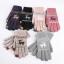ถุงมือไหมพรมเกาหลีสำหรับทัชสกรีน ลายกวางหิมะ มี 6 สี