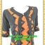 2603เสื้อผ้าคนอ้วน เสื้อผ้าแฟชั่นคอกลมตัวในมีตัวนอกคลุมทับลายกราฟฟิคสไตล์หวานเรียบร้อยสุภาพเป็นทางการ thumbnail 3