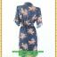 2966ชุดทํางานคนอ้วน เสื้อผ้าคนอ้วนลายเสือ สไตล์โค้ทชุดยาวคลุมเข่า คล่องตัว กระฉับกระเฉง กระดุมหน้าปลายแขนอินธนูปกฮาวายสไตล์สาวมั่น thumbnail 4