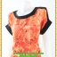 2854เสื้อผ้าคนอ้วน เสื้อผ้าแฟชั่นคอกลมสีส้มแขนเบิ้ลจั๊มเอวรูดกระแทกหน้าท้องพรางรูปร่างส่วนเกินสวมใส่สบาย thumbnail 3