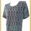 3248เสื้อคอกลมสีเทาผ้าลูกไม้ยืดลายฉลุซับในตัวเสื้ออก44-48เอว40-44 thumbnail 3