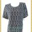 3248เสื้อคอกลมสีเทาผ้าลูกไม้ยืดลายฉลุซับในตัวเสื้ออก44-48เอว40-44 thumbnail 1