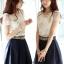 เสื้อแฟชั่น แขนสั้น ปักมุกที่คอสวยน่ารักสไตล์เกาหลี รหัส 1151 thumbnail 1
