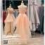 รหัส ชุดราตรี : PF008 ชุดราตรียาว เดรสออกงาน ชุดไปงานแต่งงาน ชุดแซก สีชมพู หน้าสั้นหลังยาวสวยๆ ประดับโบว์ที่เอว หมาะสำหรับงานแต่งงาน งานกลางคืน กาล่าดินเนอร์ thumbnail 2