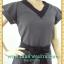 1339เสื้อผ้าคนอ้วน ชุดทำงานคอวีแต่งขอบดำตัดกับโบดำสวยหวานแขนระบาย2ชั้นกระโปรงย้วยรอบตัวสไตล์สาววินเทจผสมโมเดิร์น thumbnail 3