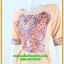 3007เสื้อผ้าคนอ้วน ชุดเดรสออกงานสีโอรสคอกลมเข้ารูปปูลูกไม้ลายด้านหน้าปรับสรีระและเพิ่มความมั่นใจ สไตล์หรูหรา สง่างาม thumbnail 3
