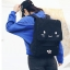 กระเป๋าเป้สีดำปักลายหน้าแมวสุดน่ารัก สะพายเก๋ๆ สไตล์เกาหลี รหัส B030 thumbnail 1