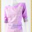 3190เสื้อผ้าคนอ้วนผ้าไทยสีม่วงคอกลมแขนยาวแต่งลายสลับพื้นปรับสรีระเพิ่มส่วนเว้าโค้งเติมความมั่นใจ สไตล์หรูหรา สง่างาม thumbnail 3