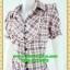 2652ชุดเดรสทำงาน เสื้อผ้าคนอ้วนผ้าตาราง ปกเชิ๊ตกระดุมหน้าทรงสุภาพกระโปรงจีบเรียบร้อย ลวดลายตารางสวมใส่สไตล์ผ้าไทย thumbnail 2