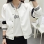 เสื้อคลุมแฟชั่น ใส่่ได้ทุกฤดูสวยเท่ห์สไตล์เกาหลี รหัส 1560-สีขาว thumbnail 1